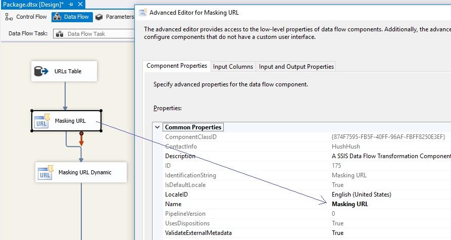 Data Masking Components: URL